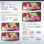 Bravia TV BX Series BX420 CX CX520 EX EX520 EX420 Edge LED