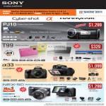 Digital Cameras Cybershot Alpha Handycam PJ10 T99 A33 NEX-5D DSLR