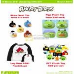 Abiko Angry Birds Plush Toys Pigs Long Sleeve T-Shirt DIY