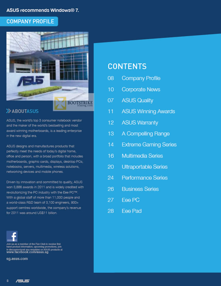 IT SHOW 2012 price list image brochure of ASUS Company Profile