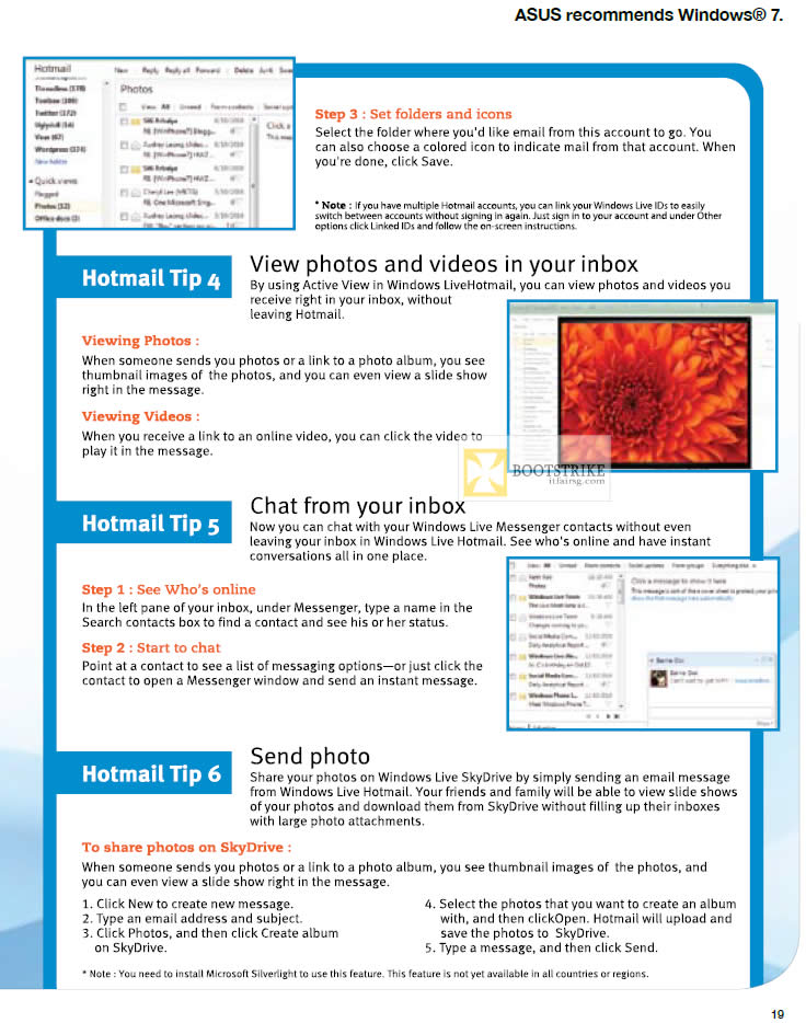 IT SHOW 2012 price list image brochure of ASUS Hotmail Tips 2