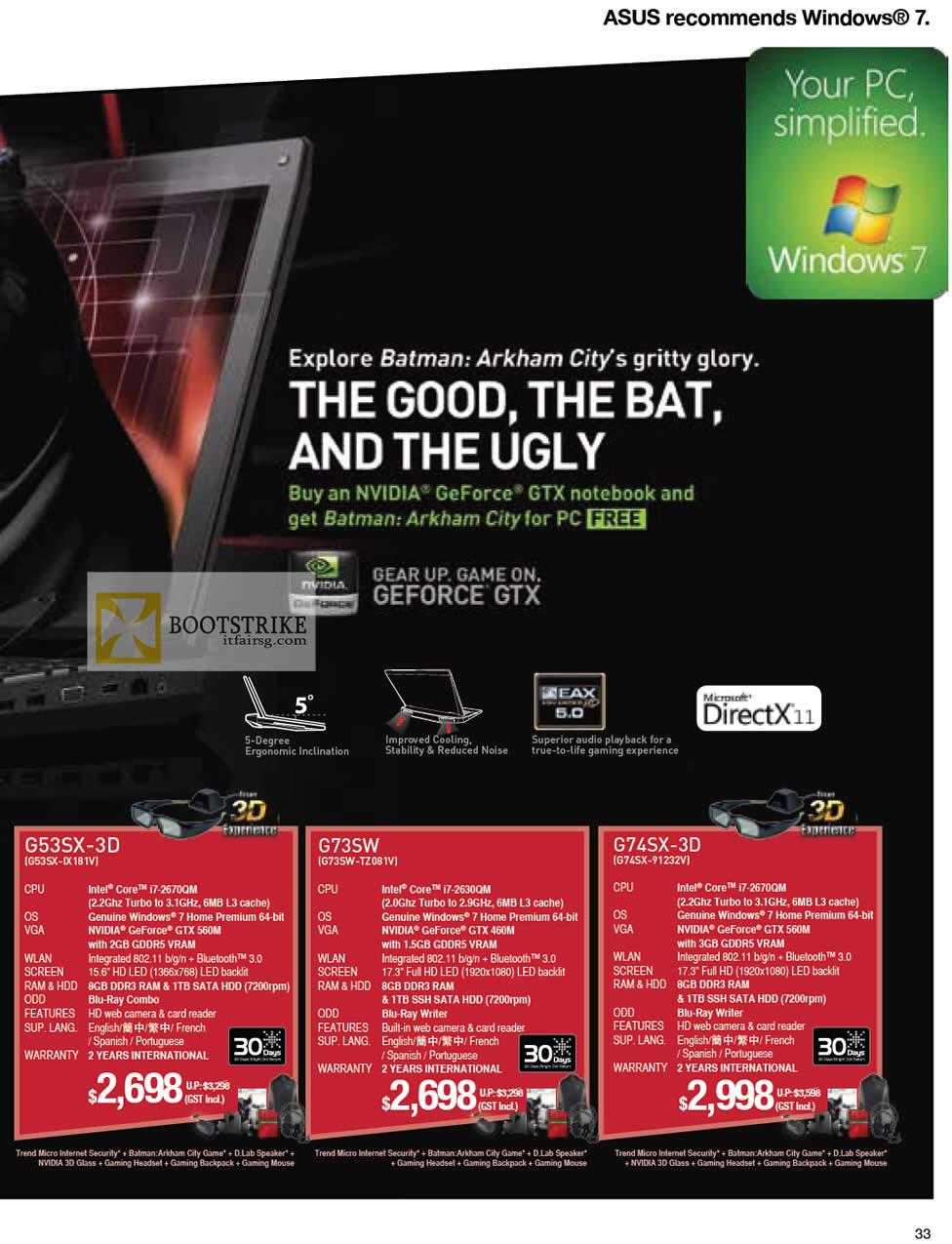 IT SHOW 2012 price list image brochure of ASUS Notebooks Gaming G53SX-IX181V, G73SW-TZ081V, G74SX-91232V