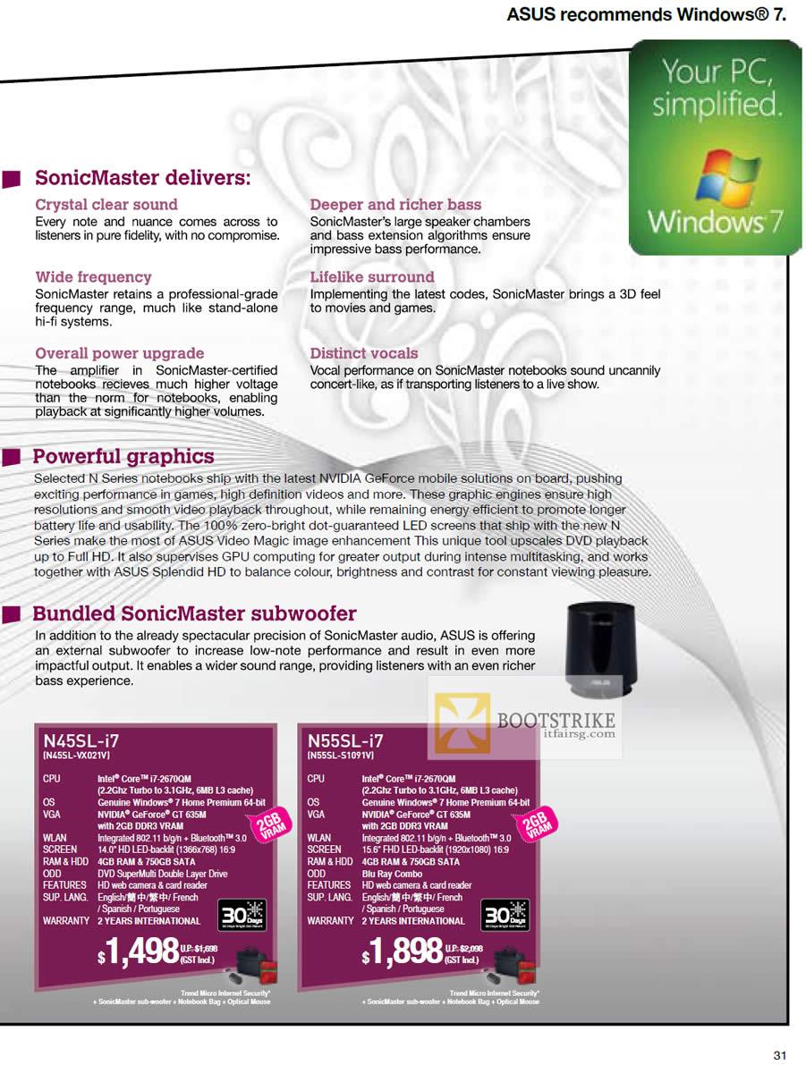 IT SHOW 2012 price list image brochure of ASUS Notebooks N Series N45SL-VX021V, N55SL-S1091V