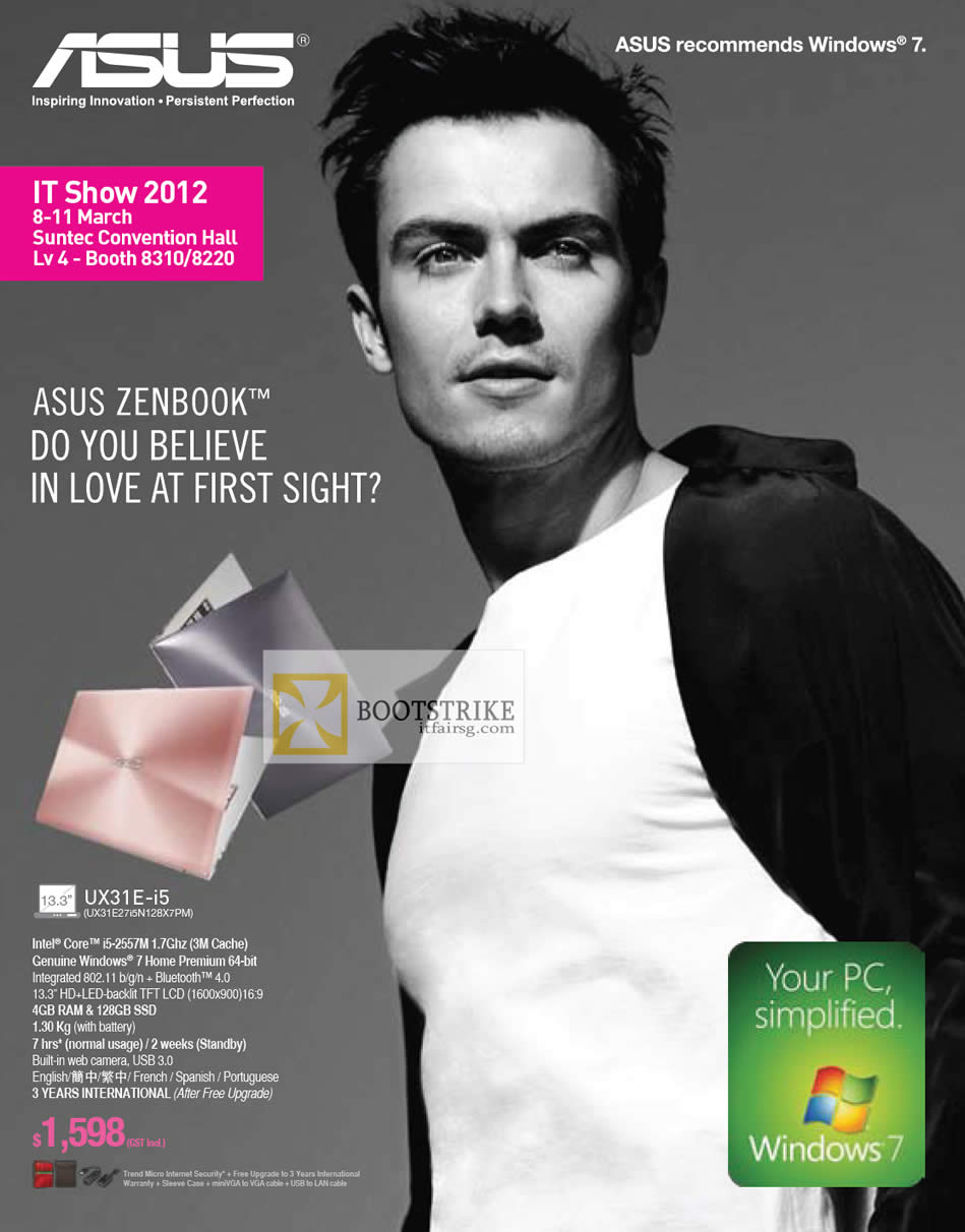 IT SHOW 2012 price list image brochure of ASUS Notebooks Zenbook UX31E UX31E27i5N128X7PM