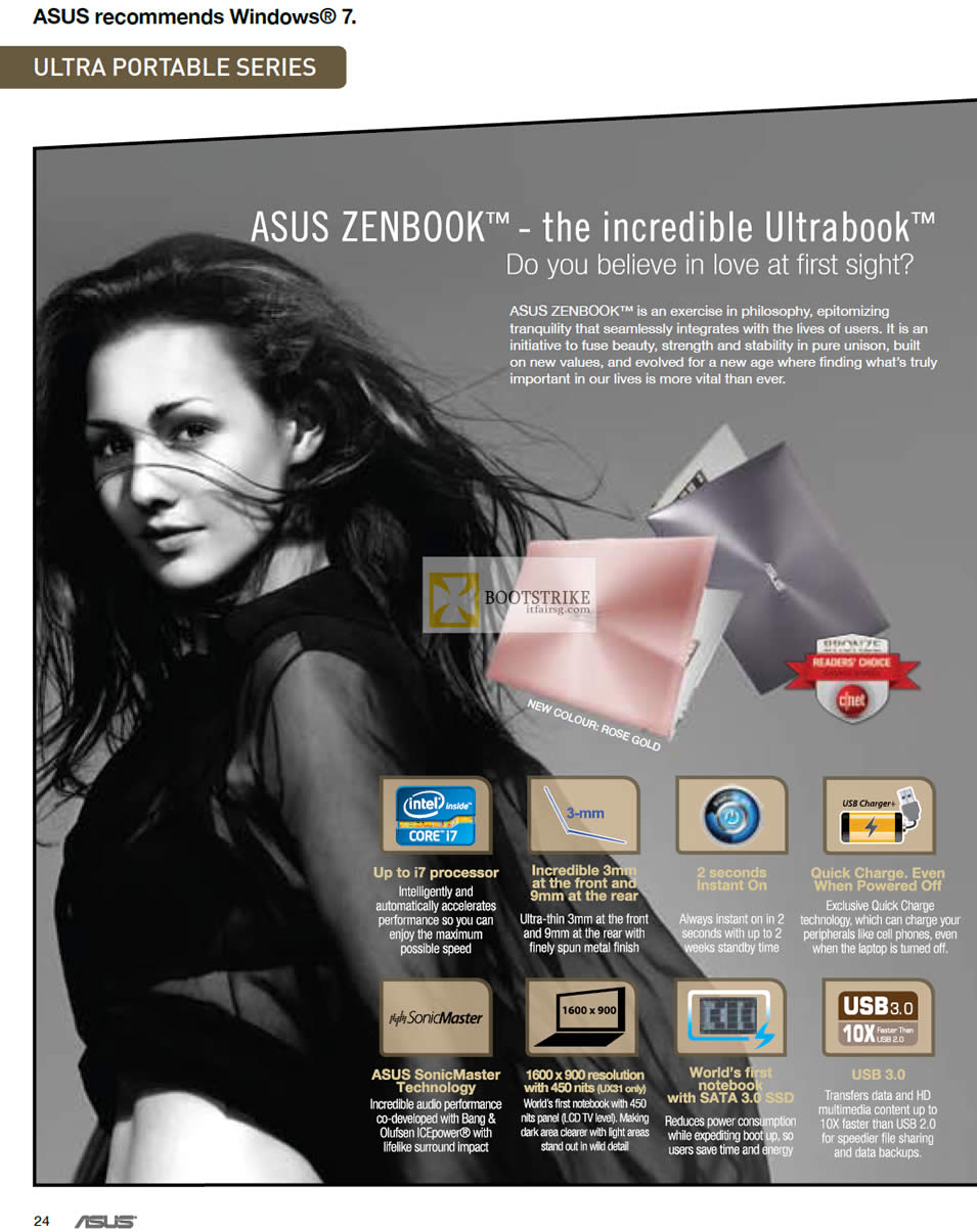 IT SHOW 2012 price list image brochure of ASUS Notebooks Zenbook Ultrabook Features, SonicMaster, Sata3 SSD, USB3