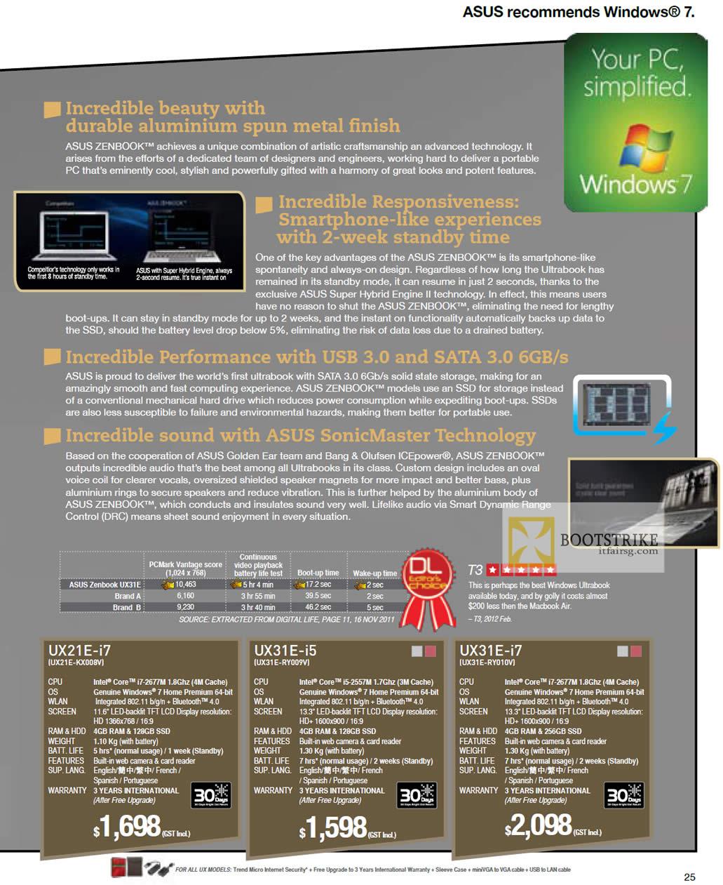 IT SHOW 2012 price list image brochure of ASUS Notebooks Zenbook Ultrabook Features, UX21E-KX008v, UX31E-RY009V, UX31E-RY010V