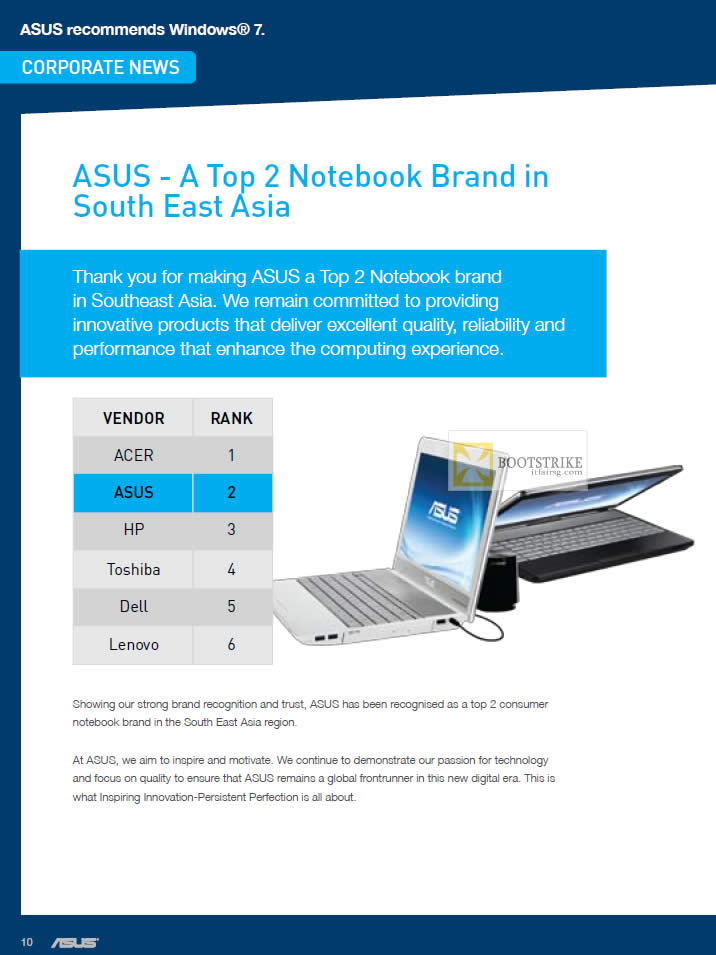 IT SHOW 2012 price list image brochure of ASUS Top 2 Notebook Brand In South East Asia
