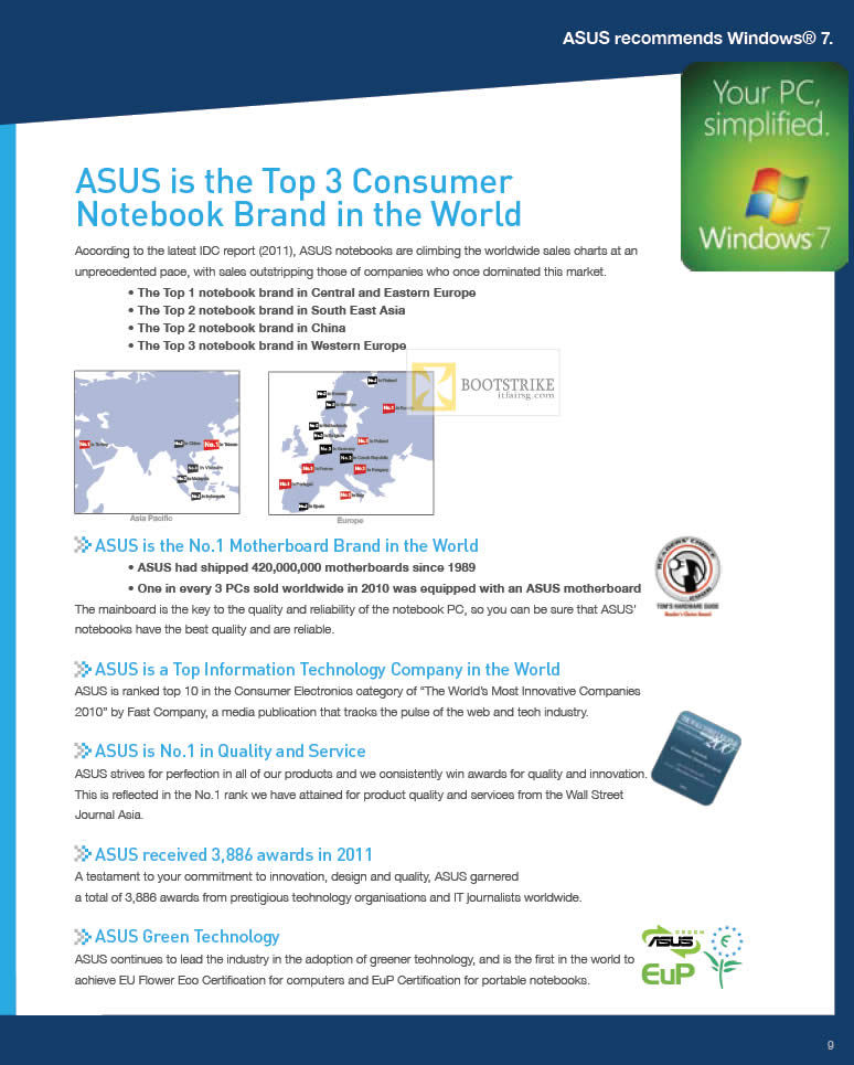 IT SHOW 2012 price list image brochure of ASUS Top 3 Consumer Notebook Brand In The World