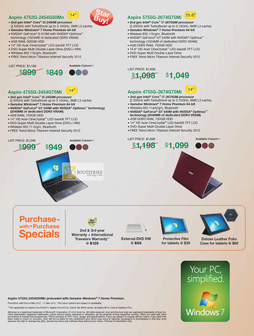 IT SHOW 2012 price list image brochure of Acer Notebooks Aspire 4752G-2454G50Mn, 5755G-2674G75Mi, 4755G-2454G75Mi, 4755G-2674G75MI