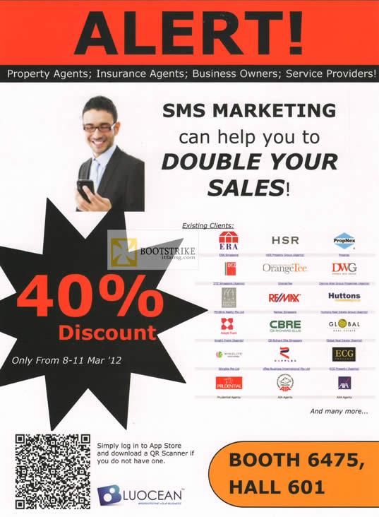 IT SHOW 2012 price list image brochure of Blu-Ocean SMS Marketing