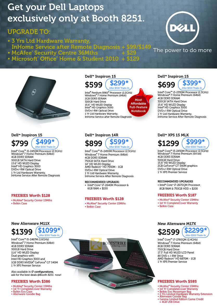 Dell Notebooks Inspiron 15, Inspiron 14R, XPS 15 MLK