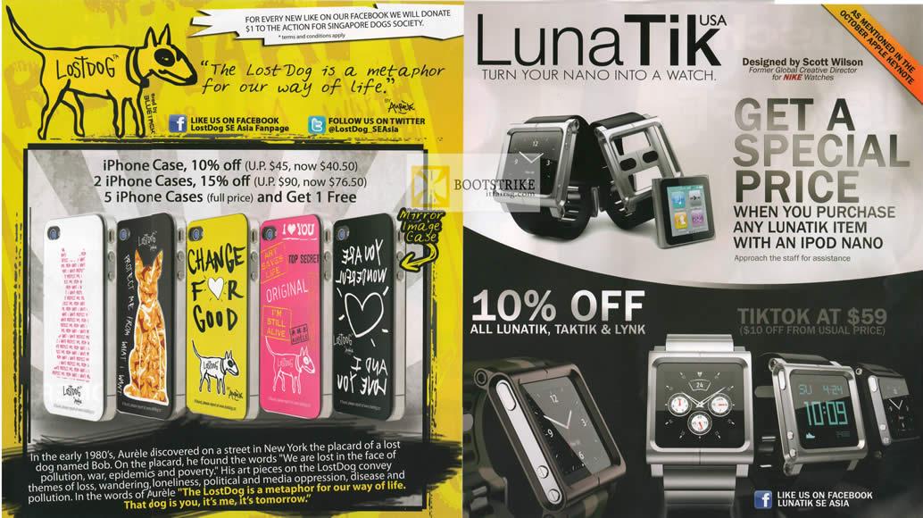 IT SHOW 2012 price list image brochure of EpiCentre LunaTik USA Nano Watch, Tiktok, IPhone Case