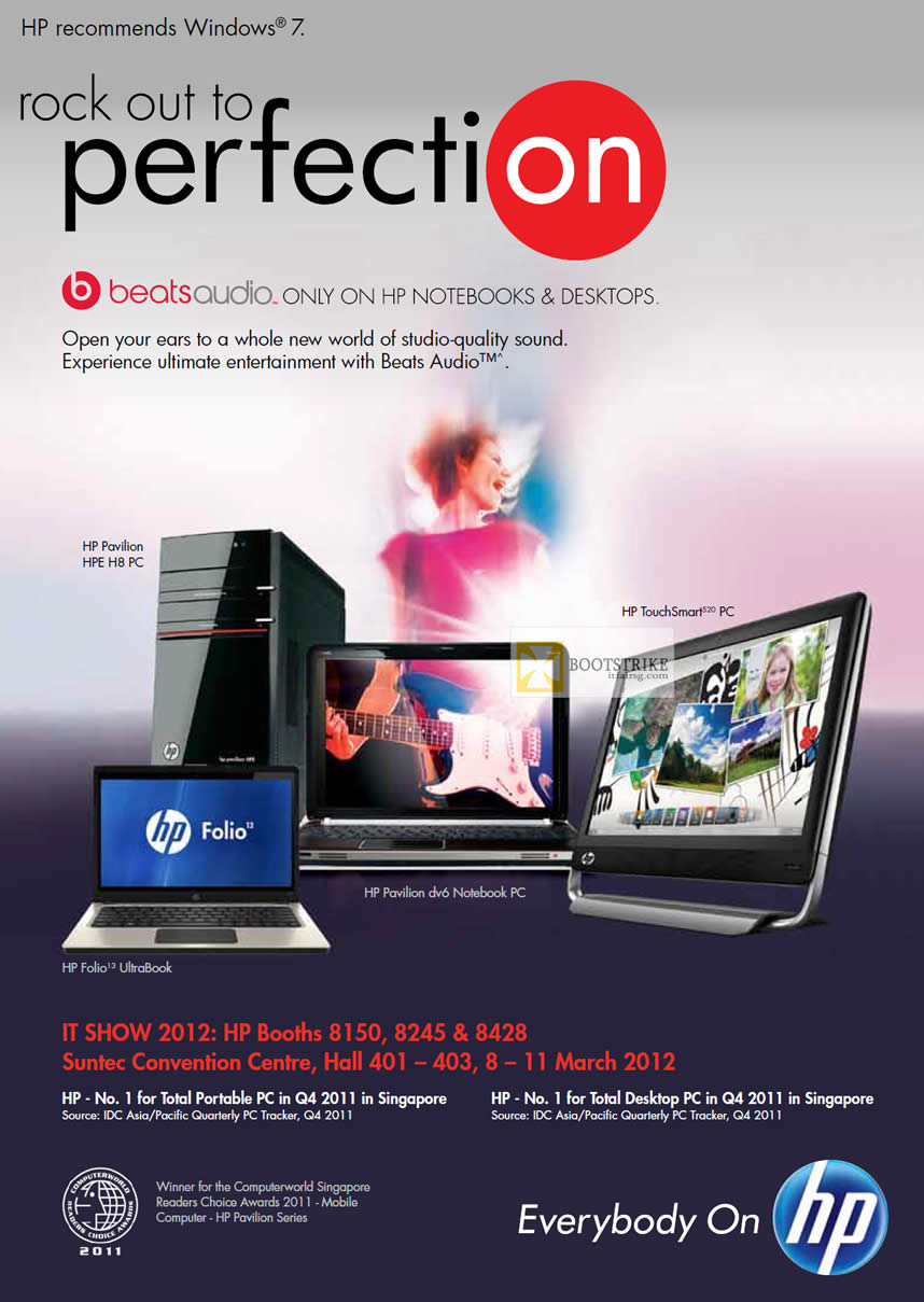 IT SHOW 2012 price list image brochure of HP Awards, Technology, Booths, Location