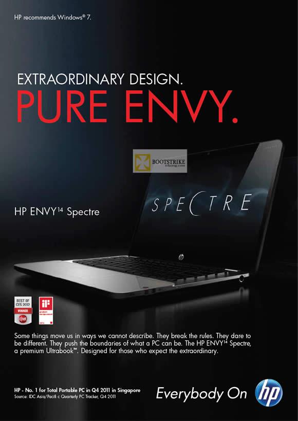 IT SHOW 2012 price list image brochure of HP Notebooks Envy Spectre Ultrabook