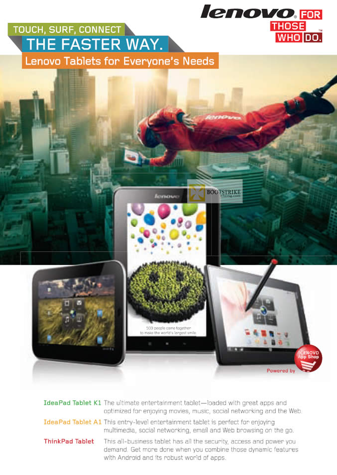 IT SHOW 2012 price list image brochure of Lenovo Tablet K1, Tablet A1, Thinkpad Tablet