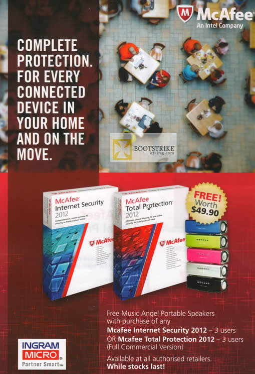 IT SHOW 2012 price list image brochure of Mcafee Free Music Angel Portable Speakers