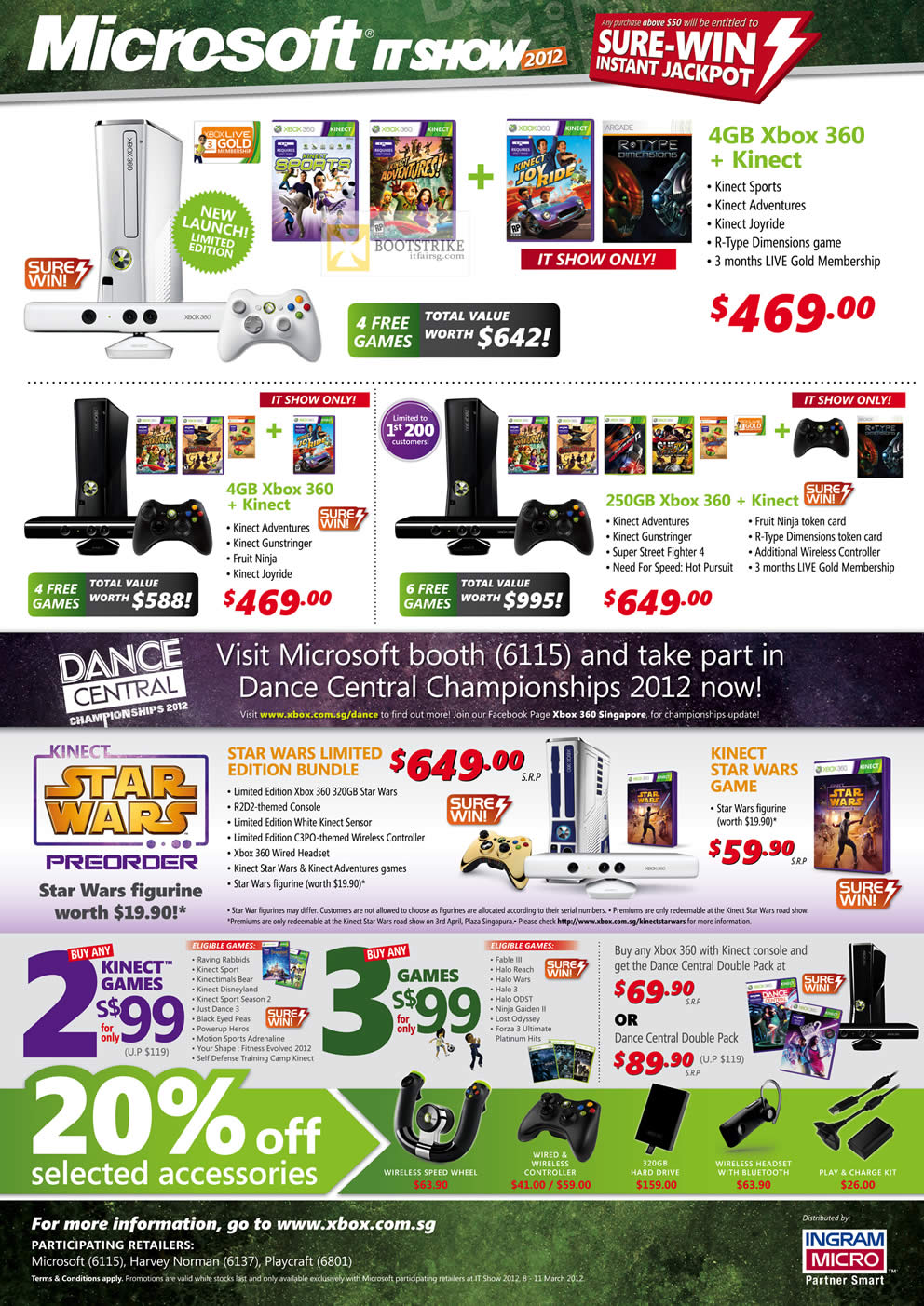 Xbox 360 Games List : Microsoft xbox kinect white games dance central