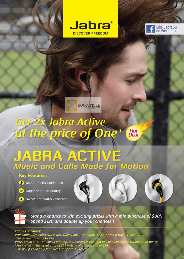 IT SHOW 2012 price list image brochure of Setelco Jabra Active Corded Headset