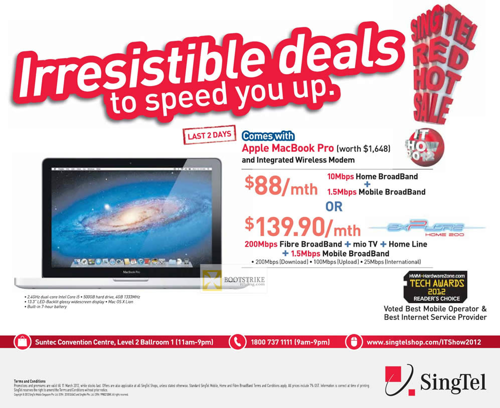 Singtel broadband promotion