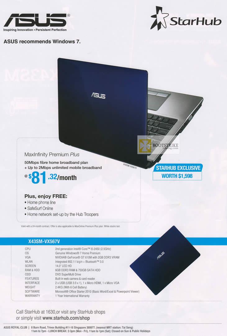 nice starhub home broadband plan. IT SHOW 2012 price list image brochure of Starhub ASUS X42SM VX567V  Notebook Specifications MaxInfinity
