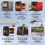 6range Sony Smartphones Mobile G700, Mix Walkman, W8, Live With Walkman, Xperia Active, Xperia Play