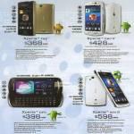 6range Sony Smartphones Xperia Ray, Xperia Neo V, Xperia Pro, Xperia Arc S