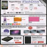 HyperDrive IFlashDrive IPhone, IPad, HyperJuice Battery Pack, MacBook Battery, Stand