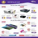 Benq Portable Scanners, Projectors W110, SP840, W6000, CP100, CP60, CP70