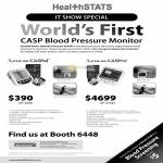 Healthstats Casp Blood Pressure Monitor, A-Pulse CasPal, CasPro
