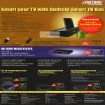 Astone Android Smart TV Box H200 Go, Media Player, Digital Video Recorder DVR, AP110D, AP300, AP360, AP380
