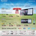 Sony Bravia LED LCD TV KDL-46EX520, KDL-40EX520, KDL-32EX520, KDL-60NX720, KDL-55NX720, KDL-46NX720, KDL-40NX720
