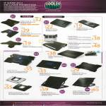 Coolermaster Notebook Cooler Notepal, X3 Black, Ergostand, U Stand Mini, Slim