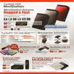 External Storage MiniStation Extreme Rugged HD-PZU500U3, PZU1.0U3, DriveStation, MediaStation