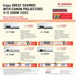 Projectors LV-7295, LV-7390, LV-7490, LV-8320