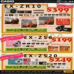 Digital Cameras Exilim EX-ZR10, EX-ZS6, EX-ZS20
