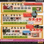 Digital Cameras Exilim QV-R100, EX-ZS15, EX-ZS100