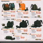 Lowepro Backpacks Fastpack 250, 100, Photo Sport 200 AW, Flipside 400 AW, CompuDay Photo 250, Pro Runner, Adventura 160