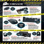 Corsair Vengenance K60 Keyboard, M60 Mouse, M90, K90, 1500, 5P2500 Speakers, Vengenance 1300 Headphone