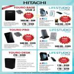 Hitachi External Storage Touro Base, Lifestudio Mobile Plus, Pro, Desk