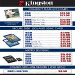 Kingston Flash Memory CF Compact Flash, SD, MicroSD, SDHC, Combo USB Reader