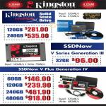 Kingston SSD, SSDNow V Series Generation III, V PLus Generation IV