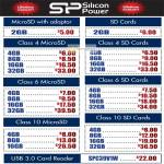 Silicon Power Flash Memory MicroSD, SD Card, USB Card Reader SPC39V1W