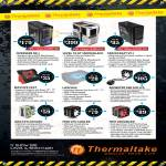 Thermaltake Case Overseer RX-1, Level 10 GT Snow, Spacecraft VF-1, Massive 23GT, Lifecool Notebook Cooler, Bigwater A80 AIO LCS, Frio