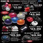 X-Mini Capsule Speakers, Max V1.1, II, Max II, Happy, Rave