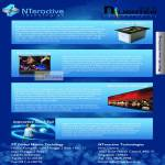Nteractive Technologies Multitouch Table, Display, Video Wall, Interactive Touch Foil
