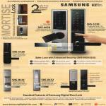 Samsung Home Systems Ezon Mortise Mechanical Override Key Lock SHS, Digital Door Lock