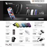 ITech Bluetooth Headsets, Splash, MyVoice 610, 312m, Clip II Mini 606, Music 802i, VoiceClip 310i