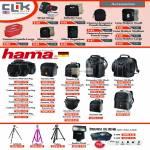 Clik Elite Accessories, Hama Camera Bags, Sorento, Canberra, Katoomba, Daytour, Samurai Dry Pak Case, Lollipod, Valon, Exakta Flash