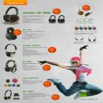 Sonicgear Headphones Xenon HP 900, HP 600, Xanadu X1000, Chromaphone, TGC 1000