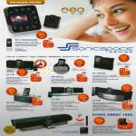 Sonicgear IPod Docking Station, IP12 Time Machine, DA 100i, IP8 IBall2, IP7 Porta2, DA 150i, DA 200i, DA 220i, Sonic Array 1000